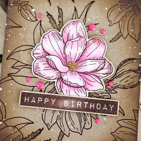 Waffle Flower Vintage Magnolia Birthday