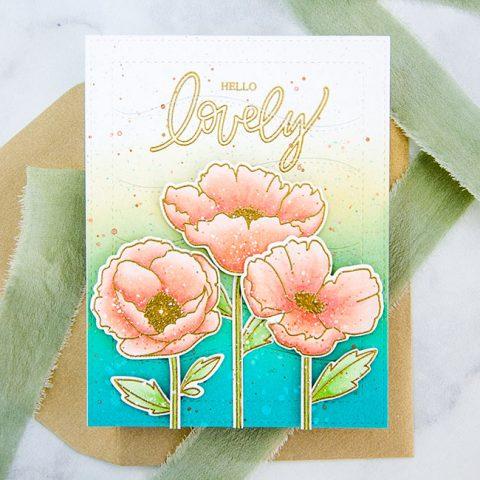 Mama Elephant Stamp Highlight: Poppy Flowers