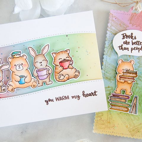 Evelin T Designs Coffee Loving Critters and Reading Buddies
