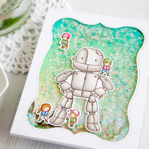 Mama Elephant Stamp Highlight: Me and My Robot