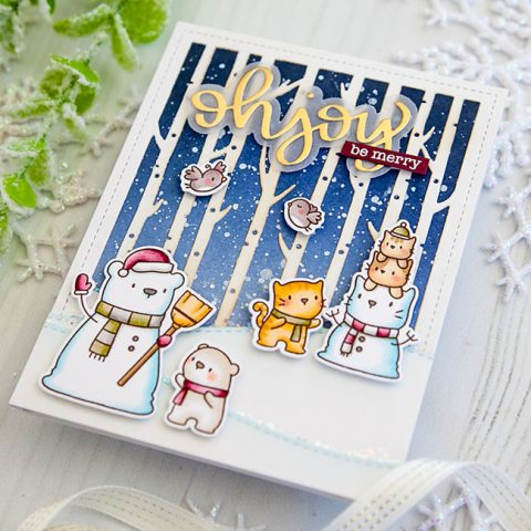 Mama Elephant Stamp Highlight: Snow Friends