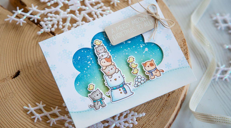 STAMPtember Mama Elephant Snow Kittens