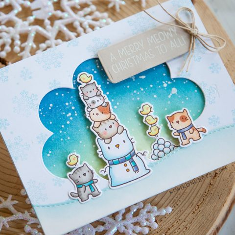 STAMPtember Mama Elephant Snow Kittens