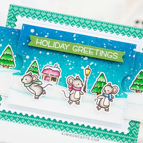 Lawn Fawn: A Double Slider Holiday Greeting