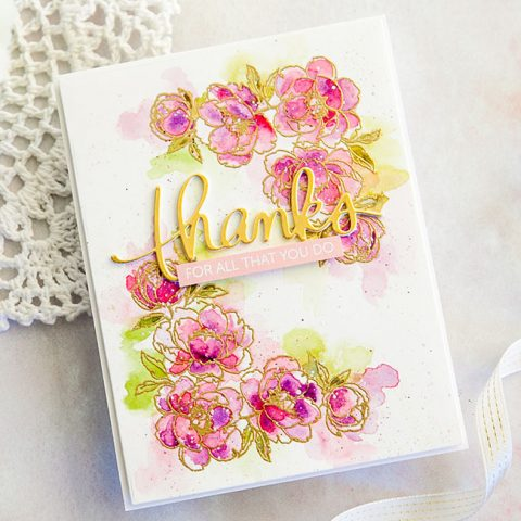 Mama Elephant Stamp Highlight: Corner Flowers
