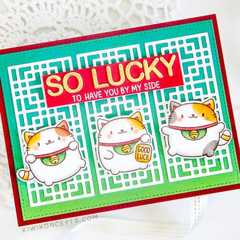 Mama Elephant Designer Series: Lucky Cats