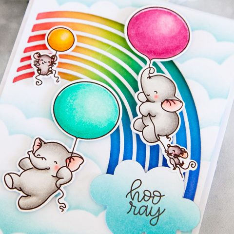 Mama Elephant Stamp Highlight: Flying with Friends