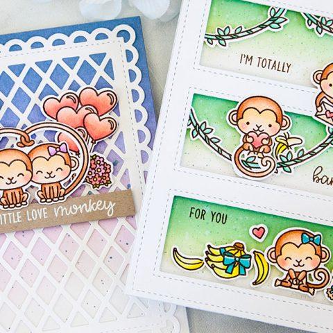 Sunny Studio Stamps Love Monkeys