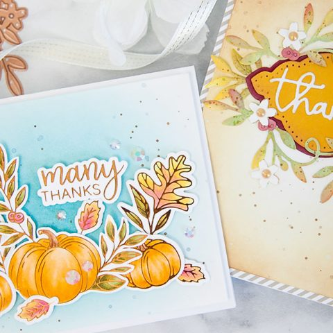 Spellbinders October Glimmer and Large Die of the Month