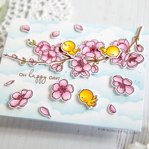 Mama Elephant Stamp Highlight: Cherry Blossom Branch