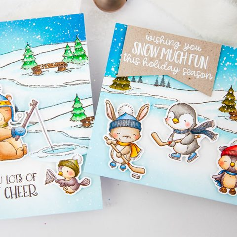 Purple Onion Designs: Snow Day at the Frozen Pond