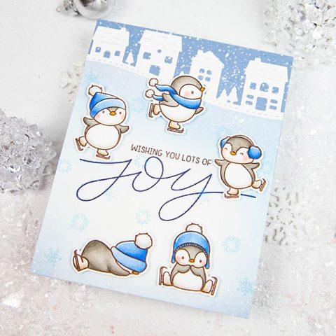 Mama Elephant Stamp Highlight: Penguins Go Skating