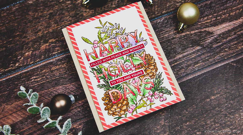 Mama Elephant Stamp Highlight: Happy Holly Days